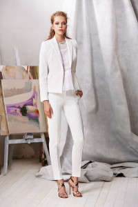 White Bussiness Pant and Jacket