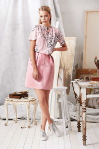 Machka 2015 Spring Summer Collection - Pink blouse and skirt