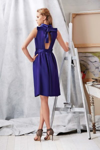 Machka 2015 Spring Summer Collection 9 - purple mini dress back view