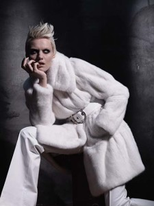 White Colored fur for woman