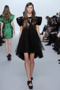Dice Kayek Spring Summer 2015 Couture Black Mini Dress Tulle