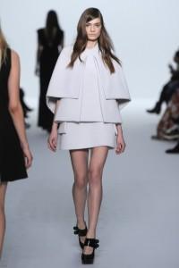 White_Coat with mini skirt