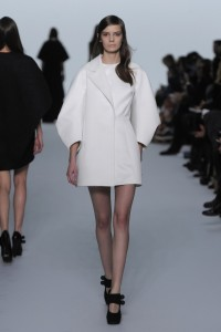 White Mini Dress With Coat fro woman