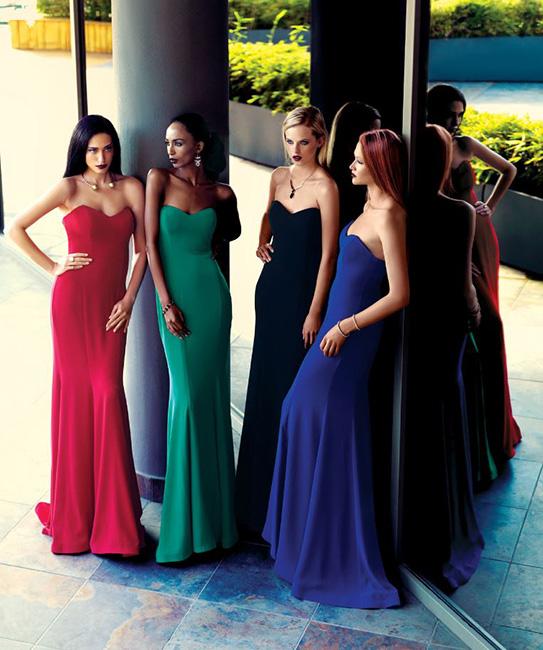 Alchera Evening Dress Red Green Black Blue