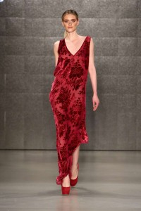 Cigdem Akin 2015-2016 Thin Long Red Dress