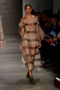 Cigdem Akin 2015-2016 Thin Long Transparent Dress