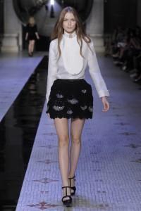 Dice Kayek Autumn Winter Mini black lace skirt