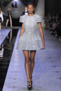 Dice Kayek Autumn Winter bright mini dress with stones