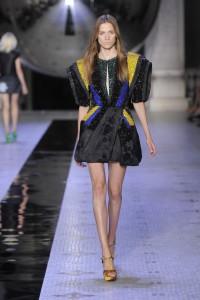 Dice Kayek Autumn Winter mini dress with black stones