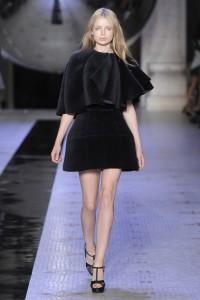 Dice Kayek fluffy black mini dress