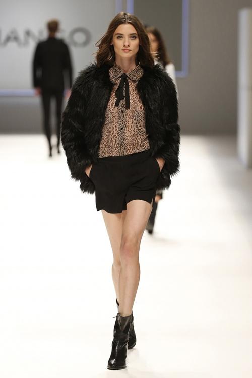 9acc74239d Mango Womens Fall Winter 2015 Black Fur Coat - Turkish Fashion Style