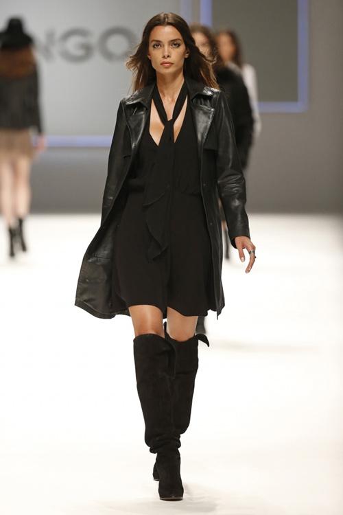 Mango Womens Fall Winter 2015 Black Leather Jacket