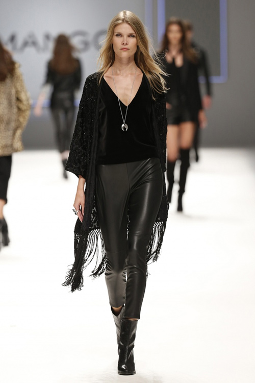 1c58abc624 Mango Women Fall Winter 2015 Black Leather Tights - Turkish Fashion ...