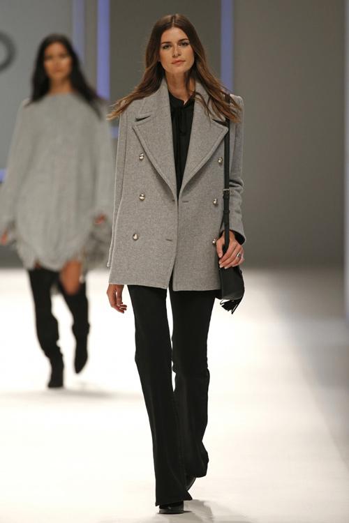 3d04d0a74f Mango Womens Fall Winter 2015 Grey Coat - Turkish Fashion Style