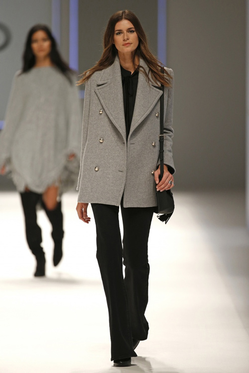 Mango Womens Fall Winter 2015 Grey Coat