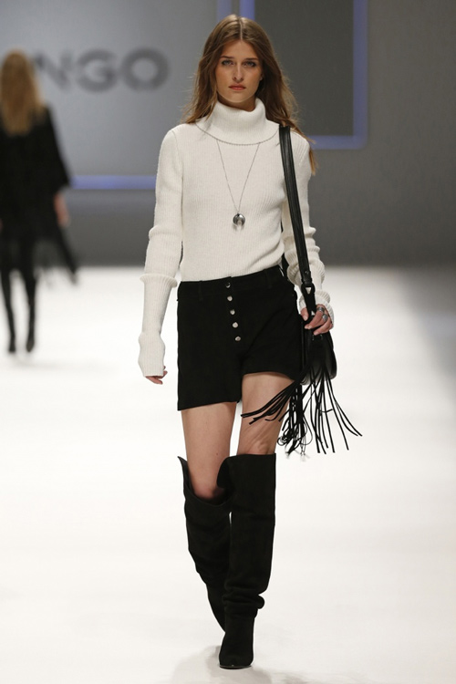 Mango Women Fall Winter 2015 White Sweater Black Short - Turkish ... ed67db468