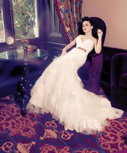 Sagaza Madrid White Prom Dress