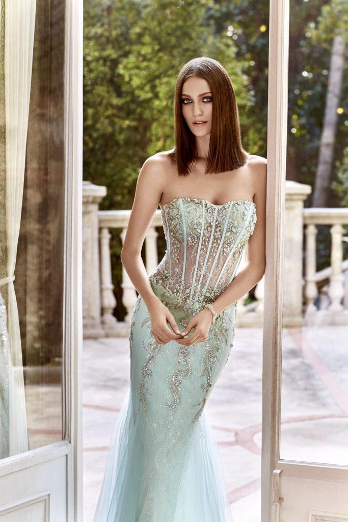 Alchera 2016 Sheer Stone Embellished Dress
