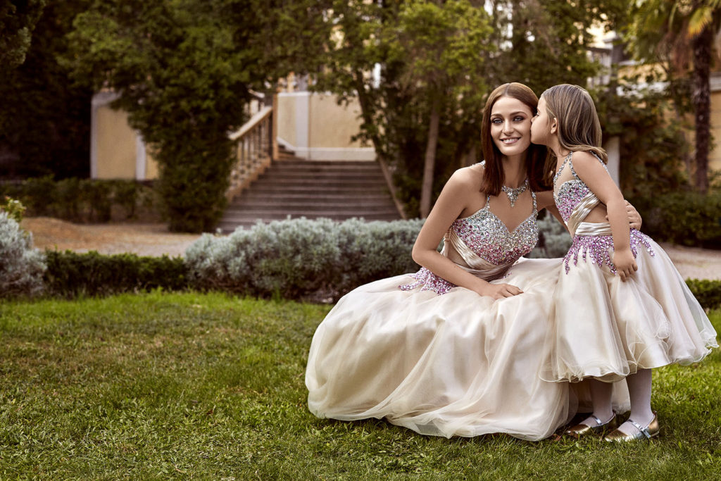 Alchera Stone Embellished Long Dress