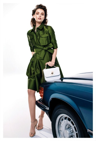 Machka Spring Summer 2016_green satin dress